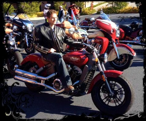 Red 2015 Indian Scout