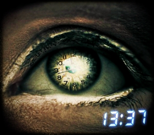 clock in eye